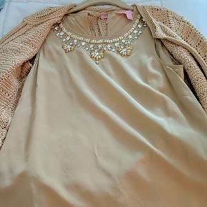 Size small Lilly Pulitzer silk top and sweater set
